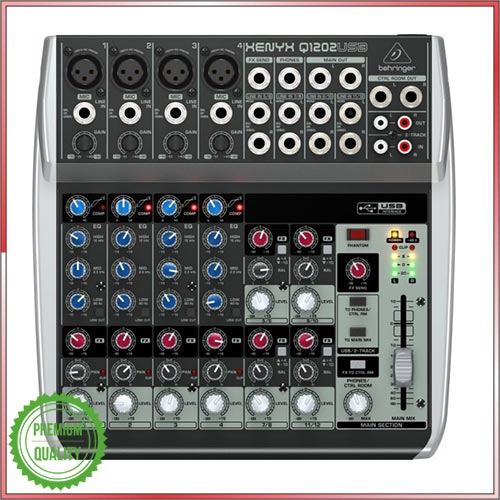 Behringer Audio Mixer Q1202USB XENYX 12 Channel USB Mixer