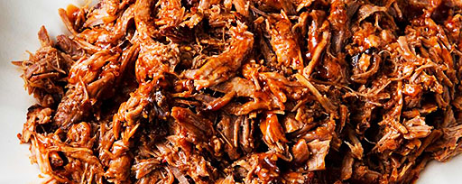 Pulled pork on a plate