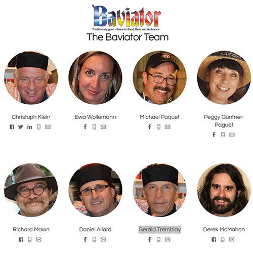 Team members of baviator