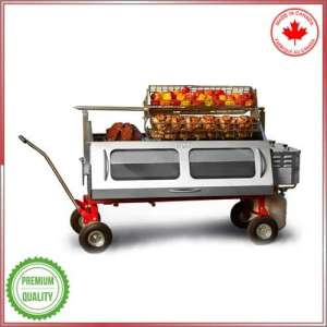 Versatile propane méchoui and spit roaster with rips and Basket (Baviator Product)